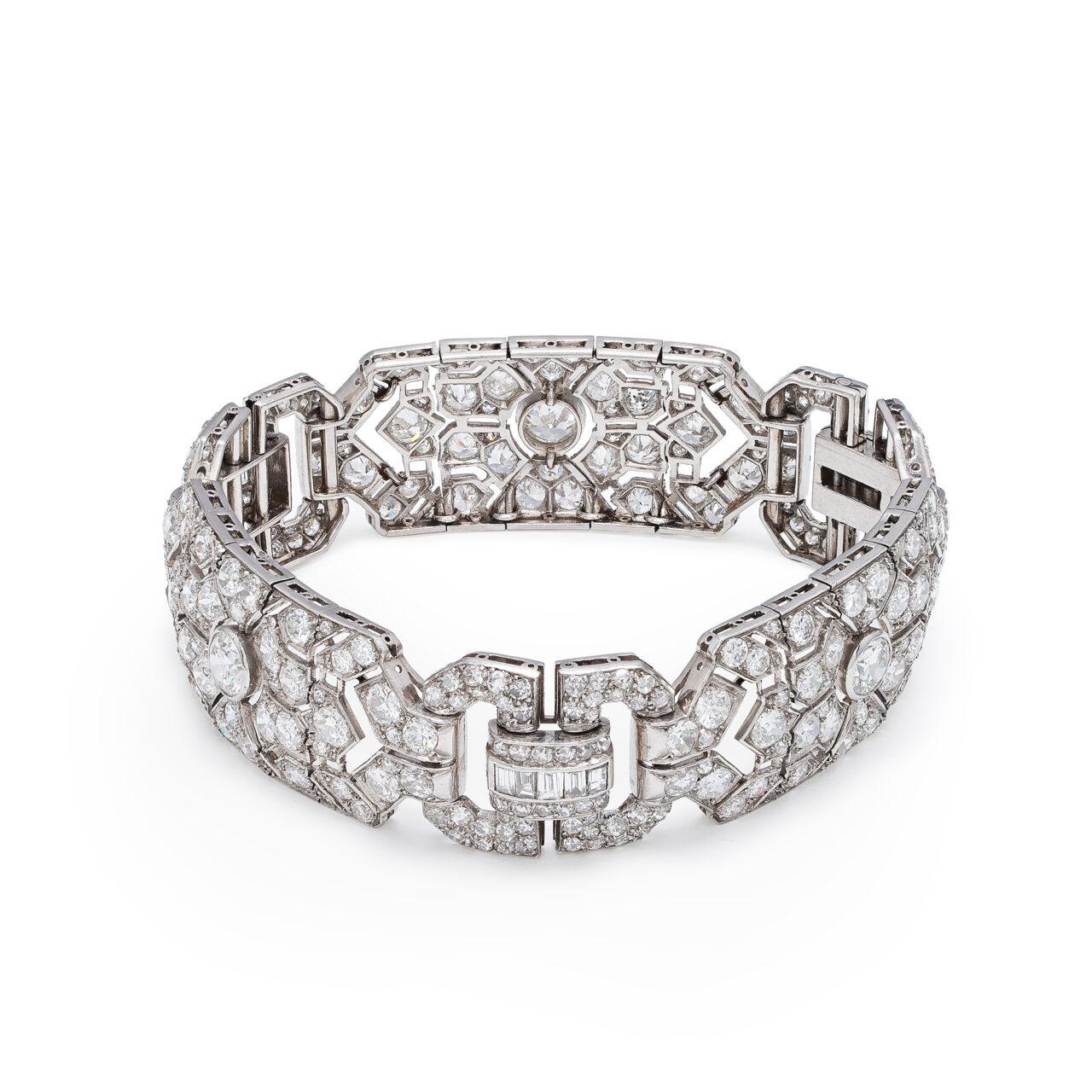 Bracciale d'epoca in Platino con Diamanti