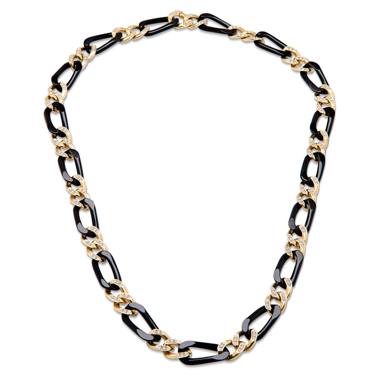 Collana di Van Cleef & Arpels in oro giallo 18k con Onice e Diamanti
