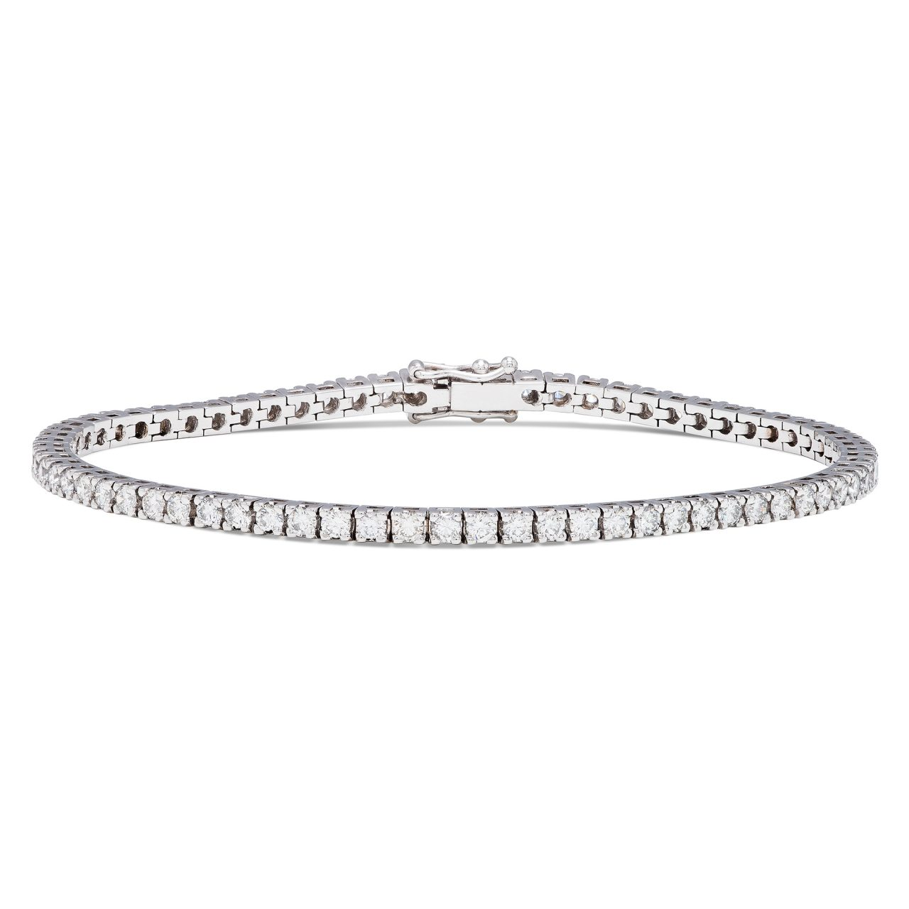 18k white gold tennis bracelet with 3,35 ct diamonds